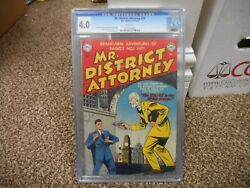 Mr District Attorney 24 Cgc 4.0 Dc 1951 Based On Radioand039s 1 Hit White Pgs Iron M