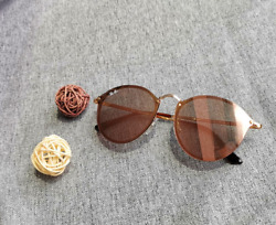 RB3574N 001 E4 Ray Ban Blaze ROUND Gold Frame Pink Mirror Lens Sunglasses 59mm