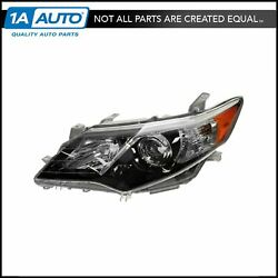 Headlight Headlamp Driver Side Left Hand Lh New For 12-13 Toyota Camry Se