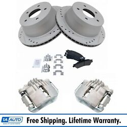 New Disc Brake Caliper Posi Ceramic Pad And Performance Rotor Rear Kit For Chevy