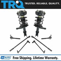 Trq 8 Pc Steering And Suspension Kit Strut And Spring Assemblies End Links Tie Rods