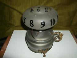 Antique Mechanical Rotating Night Mantel Candel Clock Extremely Rare Clock
