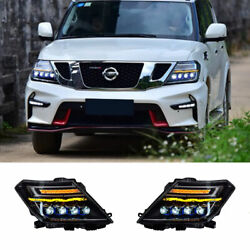 For Nissan Armada Led Headlights Projector Led Drl Replace Oem Headlight 17-20