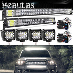 700w 52/54inch Curved Led Light Bar+32/34 Bumper+ 4 For Toyotatacoma4runner