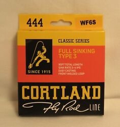Cortland 444 Classic Series Fly Line - Full Sinking - Type 3 - Wf6s