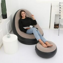 Sofa Lazy Inflatable Dorm Furniture Bag Bean Chair Couch Lounge Outdoor Indoor