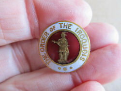 The Order Of The Iroquois Cuff Stud Enamel - Redmen- Native American Indian