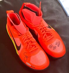 Upper Deck Serena Williams Autographed And Inscribed Pink Nike Flare Shoes 5/10