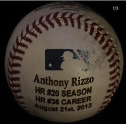 Cubs Anthony Rizzo Game Used Baseball Career Home Run 36 8/21/13 Wrigley Field