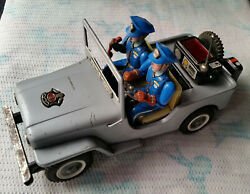 Tin Toy Japan Police Dept Telephone Operator Jeep - Working