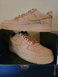 Nike Air Force 1 Low Flax/wheat Cj9179 200 Men Basketball Shoe 100 Authentic