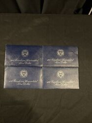 1972, 1973 And 1974 Eisenhower Uncirculated Silver Dollar Coins As