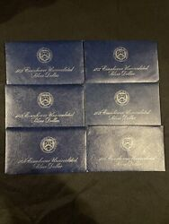1972, 1973 And 1974 Eisenhower Uncirculated Silver Dollar As