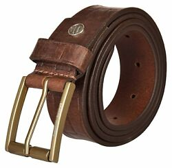 Genuine Grain Leather Casual Belts Mens Leather With Antique Alloy Buckle