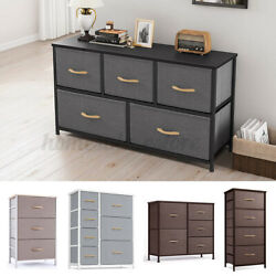 Fabric Drawers Chest of Dresser Bedroom Dorm Storage Organizer Home Furniture US