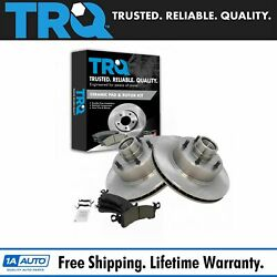 Trq Front Disc Brake Rotors And Posi Ceramic Pads Kit For Buick Cadillac Chevy Gmc