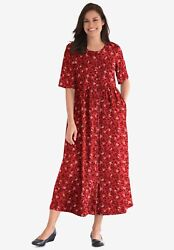 Woman Within Womenand039s Plus Size Button-front Essential Dress
