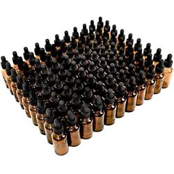 Yoleshy 1oz Glass Dropper Bottle,99 Pack Amber Bottles With Droppers And Black