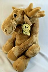 2003 Cuddly Quarry Critters Second Nature Design Sitting Moose 16 W/tags
