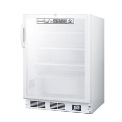 Accucold Scr600glbinzada 24 One Section Nutrition Center Refrigerator, 5.5 C...