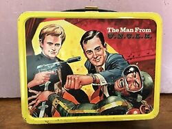 Vintage 1966 Man From Uncle Metal Lunchbox With Thermos