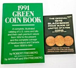 1991 Green Coin Book Robert Friedberg 1979 Blackbook Price Guide Of Us Coins