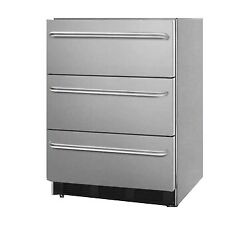 Summit Sp6dbsstb7ada One Section Drawer Type Refrigerator 3 Drawers