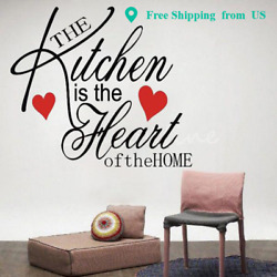 Kitchen is the Heart of the Home wall art Removable sticker decal Quote decor