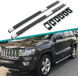 Fits For Jeep Grand Cherokee 2011-2020 Door Side Steps Nerf Bar Running Board