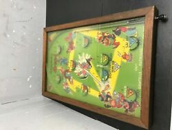 Vintage Antique 1933 Poosh-m-up Glass And Wood Baseball Pinball Tabletop 4-in-1