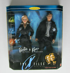 X-files Barbie And Ken As Skully And Mulder 1998 Nrfb Collectors Edition Giftset