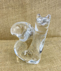 Mid-century Modern Squirrel Crystal Sculpture By Olle Alberius For Orrefors Sign