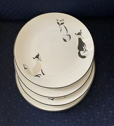 Nwt Lenox Kate Spade New York Wickford Forest Drive 4 Accent Plates 1st Quality