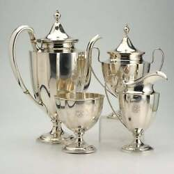 Shreve And Co. Sterling Silver Four Piece Coffee Service