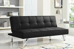 Modern 3-seat Multi-function Convertible Foldable Futon Sofa Bed Couch