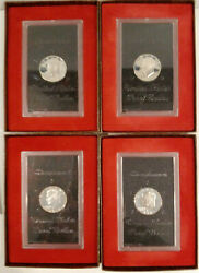Lot Of 4 Eisenhower Silver Dollar Proof Coins Us Mint 2 Each 1971-s And 1972-s
