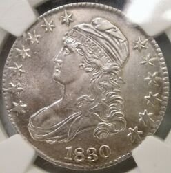 1830 Capped Bust Letter Edge Silver Half Dollar Choice Gem Spectacular Ngc Ms 62