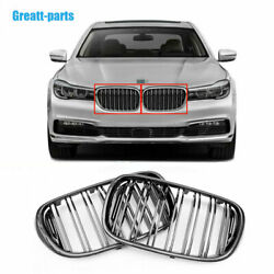 Carbon Fiber Front Bumper Grille Grill Double Slat For Bmw 7 Series G11 G12 G13