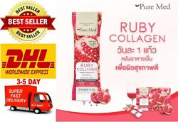 Ruby Collagen 10000mg By Pure Med Skin Food Clear White Anti Aging 15 Sachets