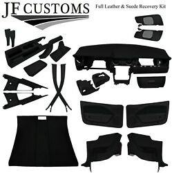 Black Stitch Leather Covers For Ford Mustang 05-09 Full Interior Recovery Kit