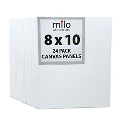 milo Canvas Panel Boards for Painting 8x10 inches 24 Pack $19.90