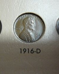 1916-d Lincoln Cent - Unc Brown - Luster