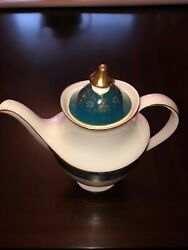 Royal Doulton Carlyle China Coffeepot With Lid - Blue/green/gold