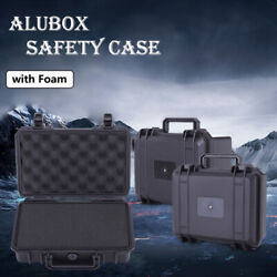 Small Plastic Outdoor Waterproof Storage Case Tool Dry Box With Foam Inserts