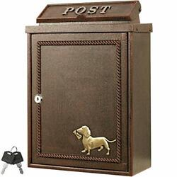 Hippo Post Office Dachshunds And Letters Antique Wall With Key A4 Fashionable