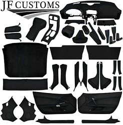 Blue Stitch Leather Covers For Corvette C6 05-13 Full Interior Recovery Kit