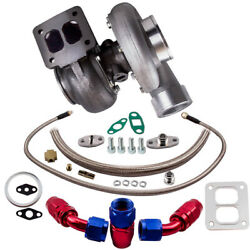 Gt45 T4 V-band 1.05 A/r Universal Turbo Charger + Oil Drain Feed Return Line Kit
