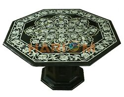 30 Marble Coffee Table Top Mother Of Pearl Birds Inlay Art With 16 Stand B697
