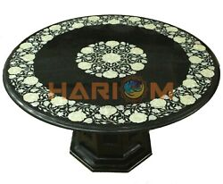 30 Marble Coffee Table With 16 Stand Mother Of Pearl Floral Inlay Decors B698