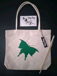 Hand Painted Canvas Bags Eco Friendly Fashionable Sustainable Bags $12.54